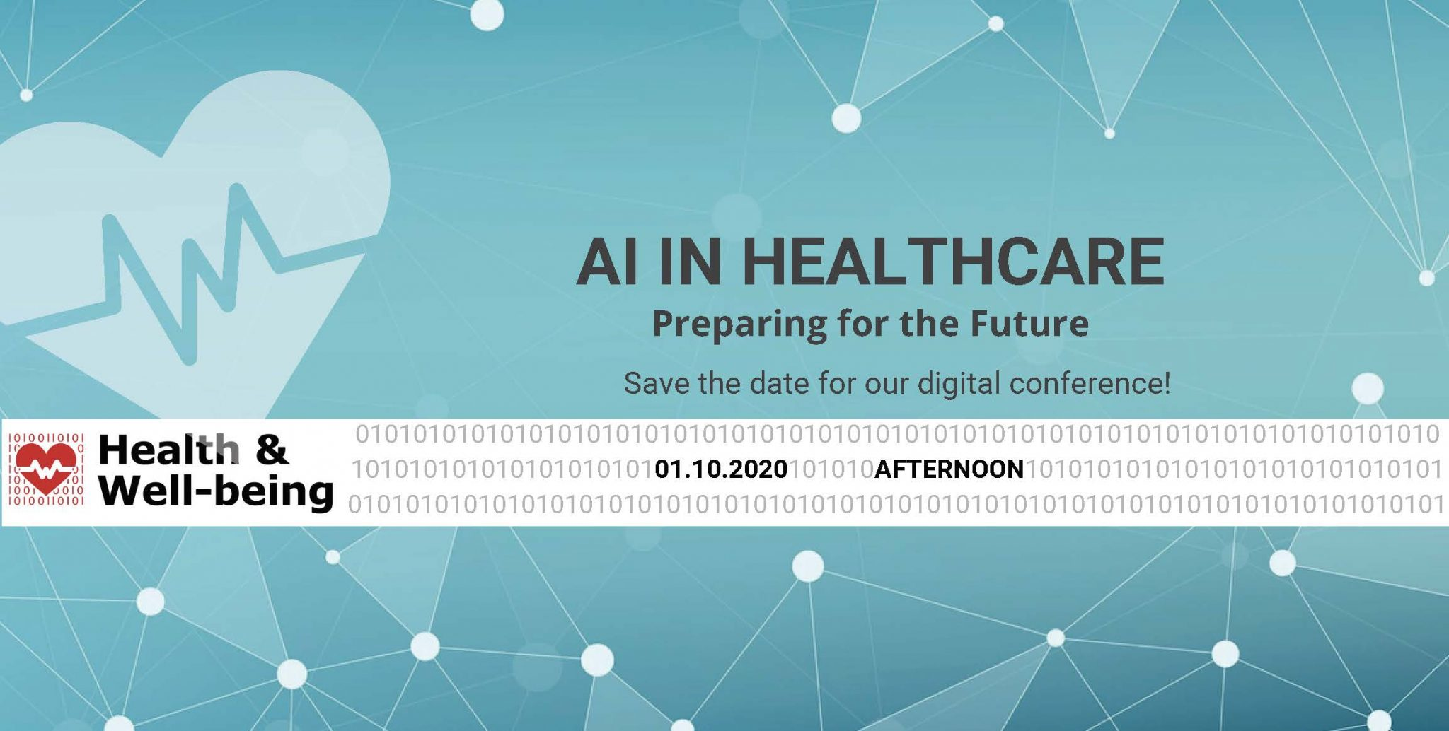 AI in Healthcare: preparing for the future – October 1st